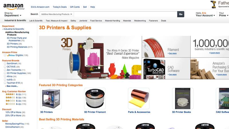 Illustration for article titled Amazon estrena una sección dedicada a las impresoras 3D