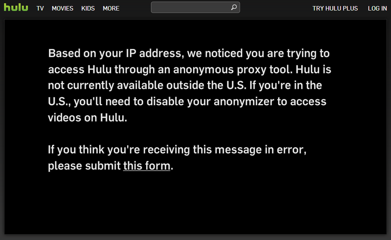 Illustration for article titled Hulu is Blocking VPNs