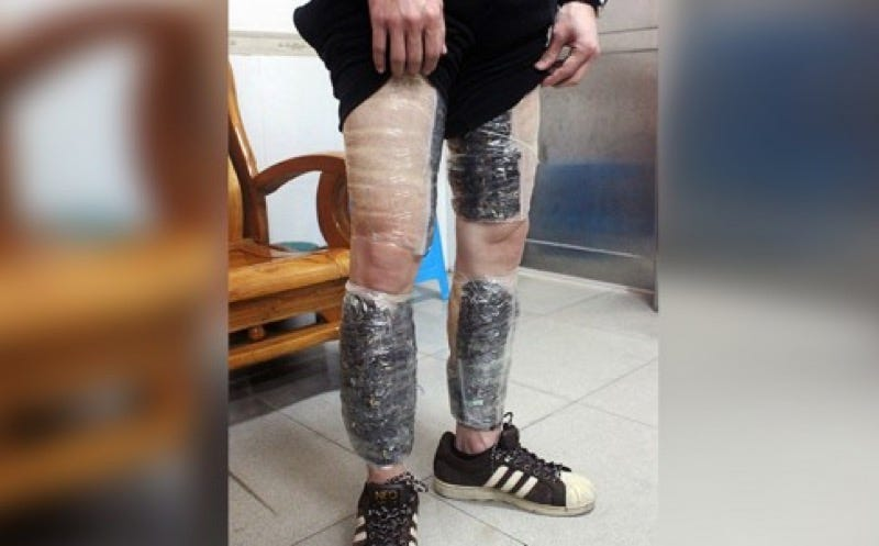 Illustration for article titled Smuggler Caught with 9,000 Memory Cards Taped To His Legs