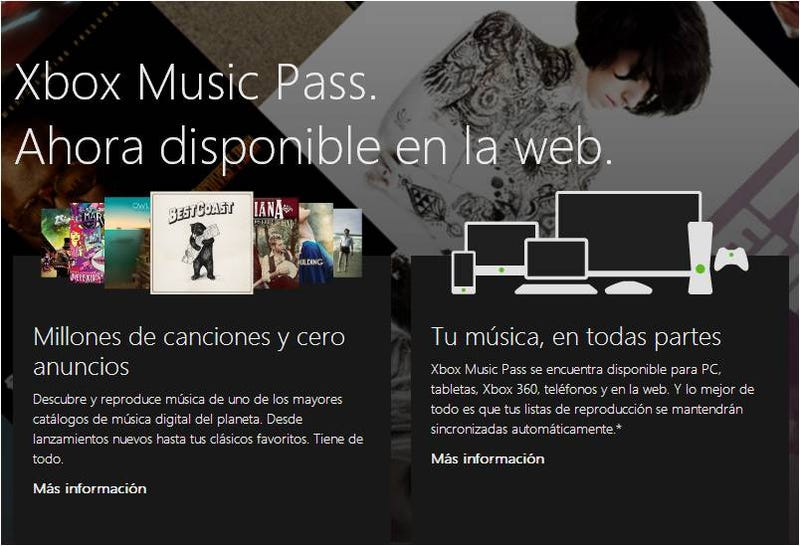 Illustration for article titled ¿Tiembla, Spotify? Disponible la versión web de Microsoft Xbox Music