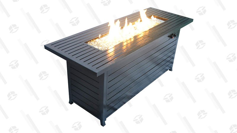 Fire Pit Table Gold Box | Amazon