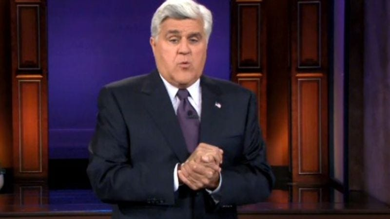 Illustration for article titled Jay Leno is very, very gently rebelling against NBC