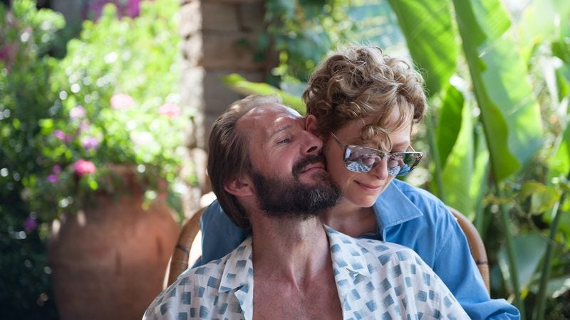 Illustration for article titled Tilda Swinton and Ralph Fiennes are aging rockers in the beguiling, muddled A Bigger Splash