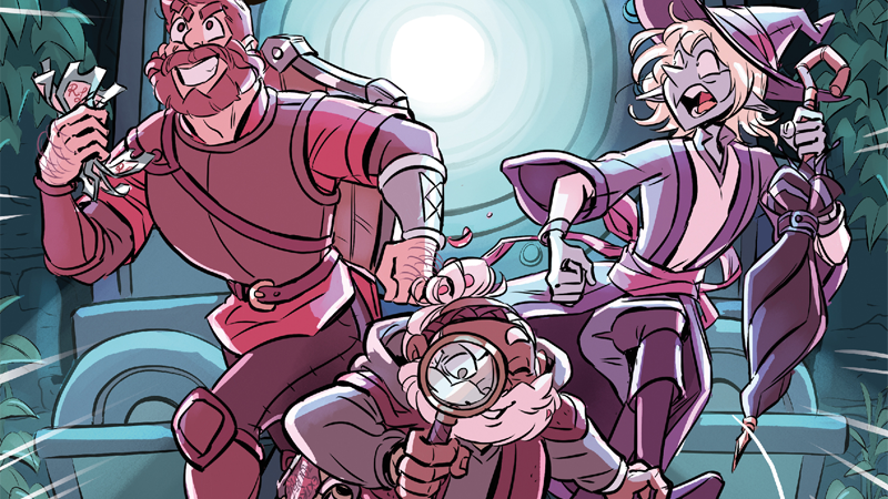There's a murder to solve in Magnus, Merle, and Taako's next comic adventure!