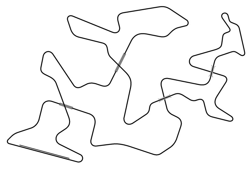 Illustration for article titled I have succeeded in creating a race track with four crossing points