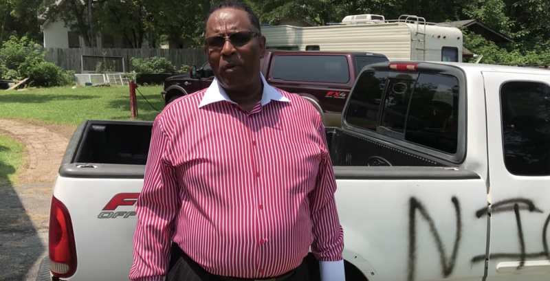 Illustration for article titled Alabama Pastor Says He's Going to Stand His Ground If Truck Is Vandalized With Racist Graffiti Again
