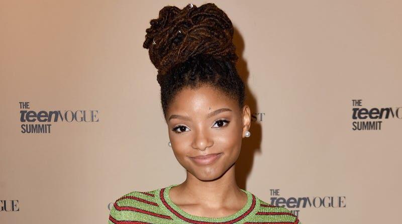 Halle Bailey attends The Teen Vogue Summit LA: Keynote Conversation with A Wrinkle In Time director Ava Duvernay and actresses Rowan Blanchard and Storm Reid on December 2, 2017 in Playa Vista, California.