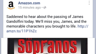 Illustration for article titled Let's Not Use James Gandolfini's Death to Sell Sopranos DVDs Amazon