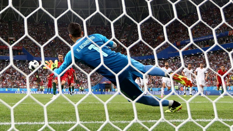 Image result for ronaldo's save against iran
