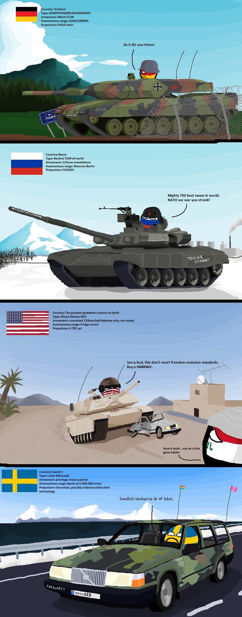 Illustration for article titled Polandball tanks