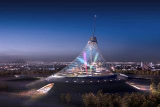 Illustration for article titled Kazakhstan's Highest Peak is a Pyramid-Shaped Alien Ship