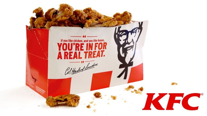 Illustration for article titled KFC Introduces New Previously Owned 20-Piece Hot Wings
