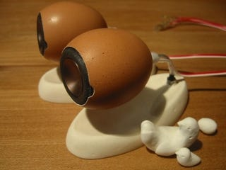 Illustration for article titled Beautiful DIY Speakers Are Made of Actual Eggshells