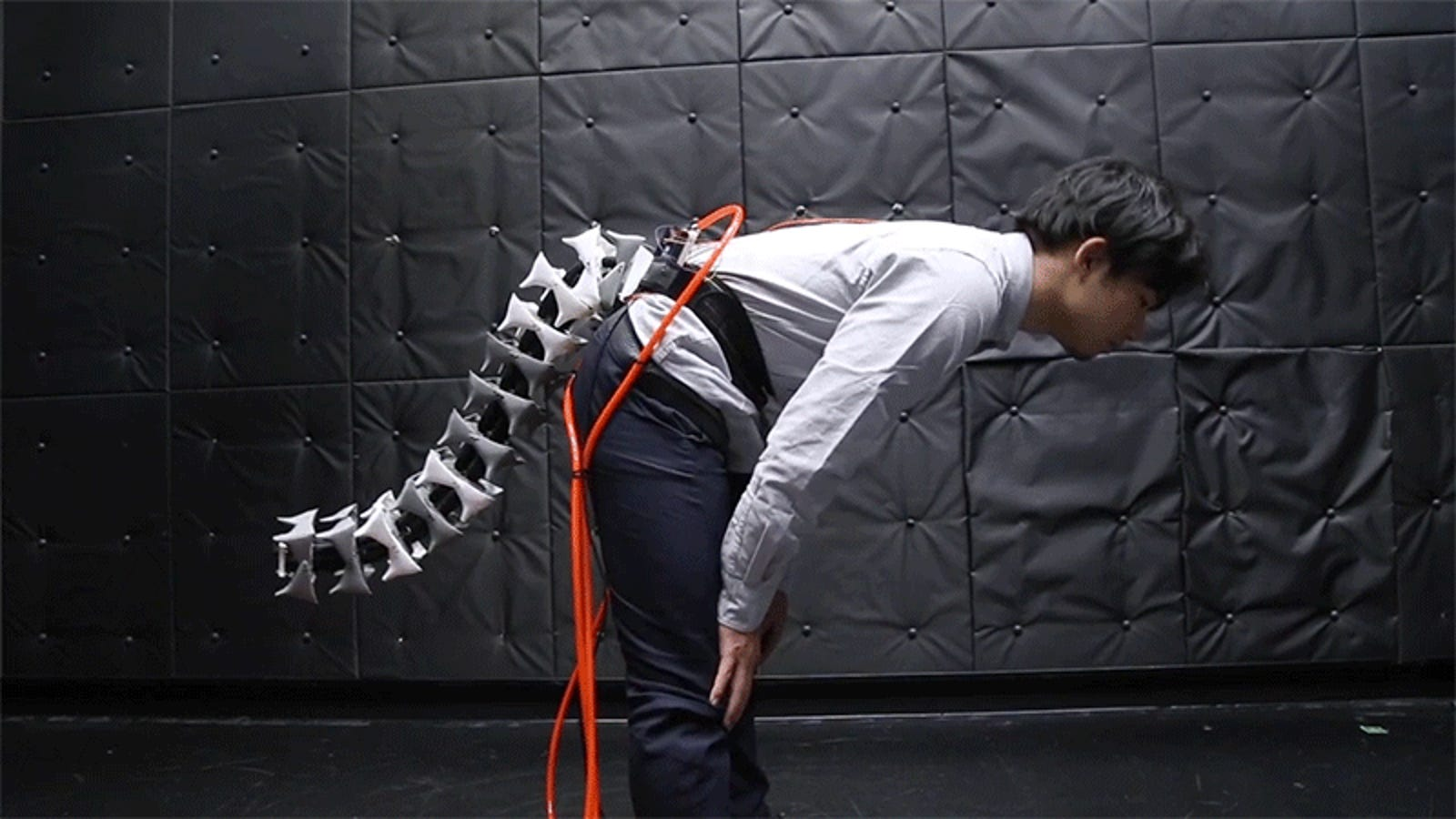 A Wearable Robotic Tail Turns Someone Into a Furry With Improved Steadiness thumbnail