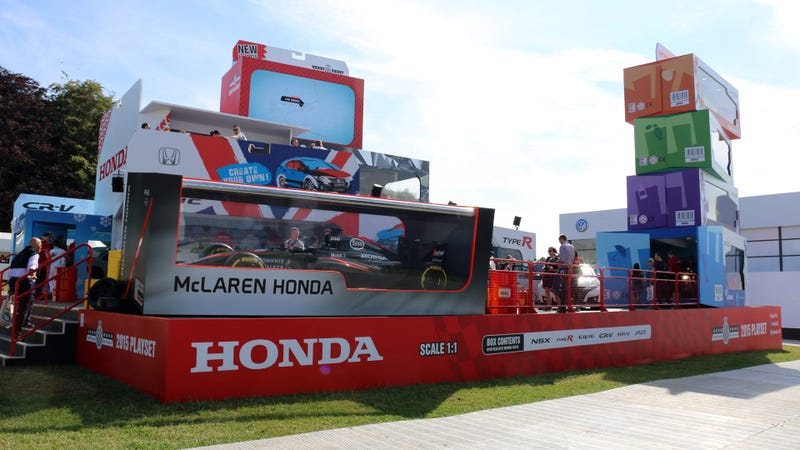 Illustration for article titled Honda's Goodwood Stage Is Full Of Real-Life Toy Cars