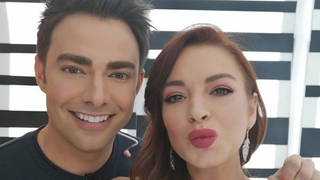 Illustration for article titled Aaron Samuels Wore His Hair Pushed Back for His Reunion With Lindsay Lohan
