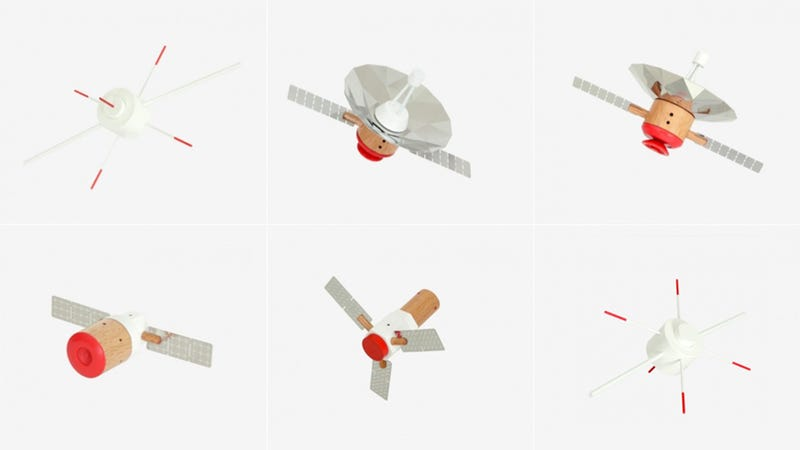 Illustration for article titled Hold a Satellite In Your Palm With These Pint-Sized Wood Models