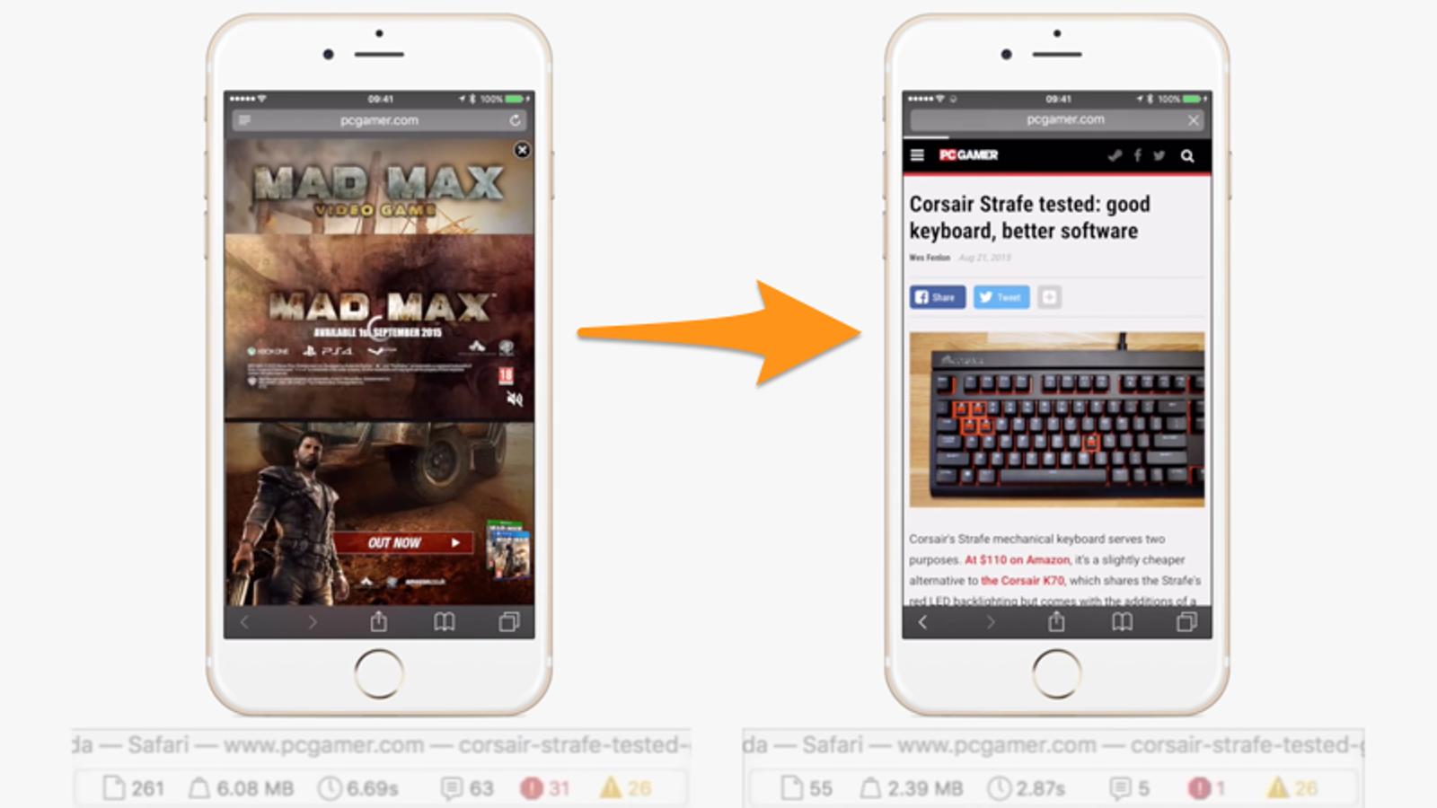 Así funcionan los bloqueadores de anuncios para Safari en iOS 9