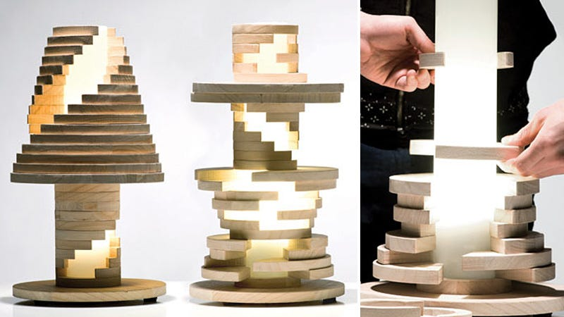Illustration for article titled Just Re-Stack and Twist This Lamp When You Get Bored of Its Design