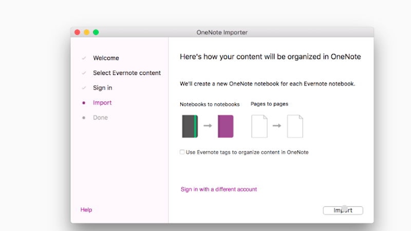 Illustration for article titled Microsoft's Evernote to OneNote Conversion Tool Is Now On Mac
