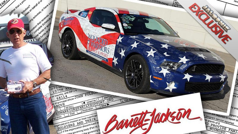 Illustration for article titled Why Did The World's Biggest Car Auction Raise Money For This Birther Scammer Of A Wounded Vet Charity?