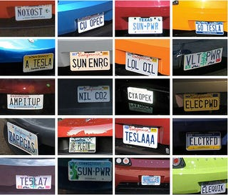 Illustration for article titled Tesla Owners Have The Smuggest Vanity Plates