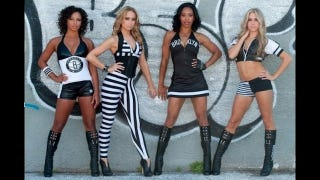 Illustration for article titled The Brooklyn Nets Cheerleaders' Uniforms Are Revealed, And They Are Something