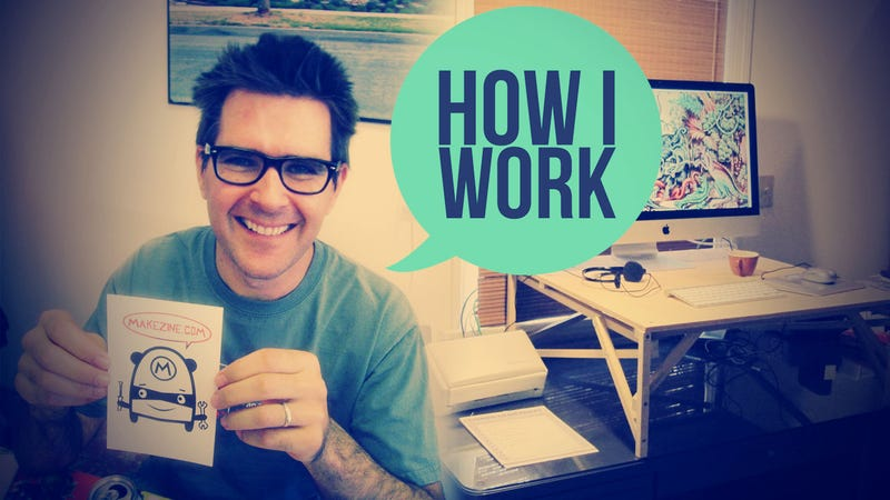 Illustration for article titled I'm Mark Frauenfelder, Editor-In-Chief of MAKE Magazine, and This Is How I Work
