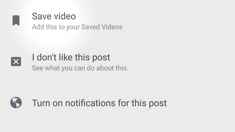 Illustration for article titled Facebook's Android App Now Lets You Save Videos for Offline Viewing