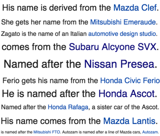 Illustration for article titled Apparently every single character in this anime is named after a car.