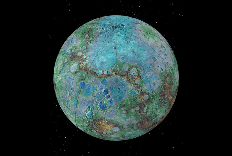an overview of planet mercury and its geology Mercury (left) is a planet  has sufficient mass to become rounded by its own  planetary geology is the branch of geology specifically devoted to the study of.