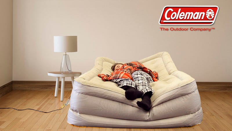 Illustration for article titled Coleman Unveils New Slowly Leaking Air Mattress For House Guests Who Won't Take A Hint
