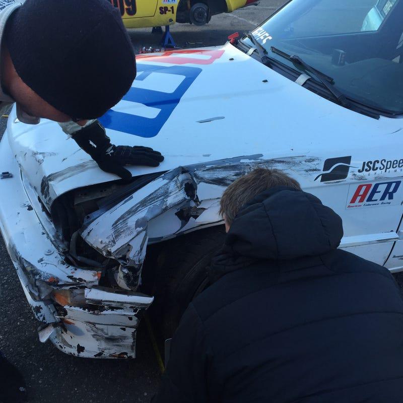 Illustration for article titled Crashing A Race Car Sucks