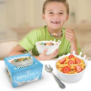 "Illustration for article titled Spilt Milk Cereal Bowl Is Designed ""Like An Accident In Progress"""