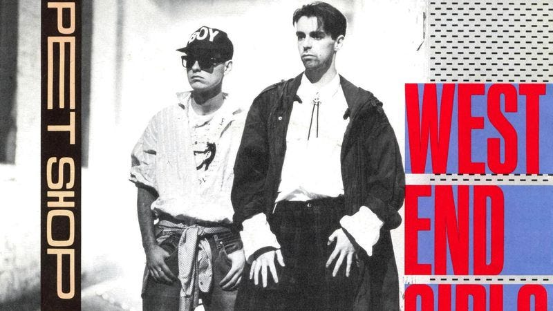 "Illustration for article titled With ""West End Girls,"" Pet Shop Boys set a high standard for U.K. hip-hop"