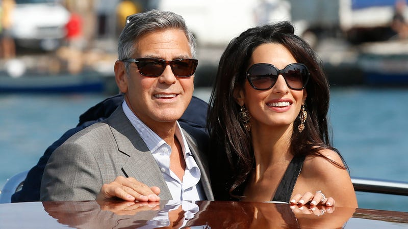Illustration for article titled George Clooney and Amal Alamuddin Are Married