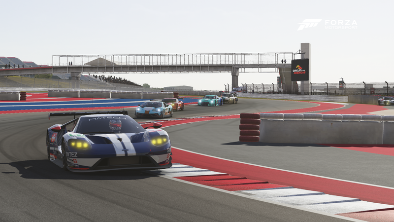 A portion of the GT Field from Septembers Opposite Lock Endurance race at COTA