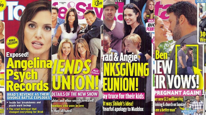 Illustration for article titled This Week in Tabloids: Nothing's Going on So Let's Speculate About a Friends Reunion!