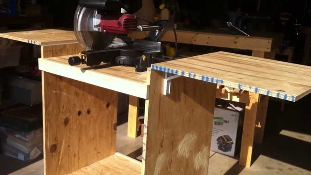 Build This Diy Miter Saw Table From A Single Sheet Of Plywood