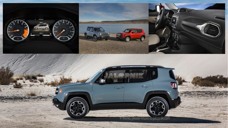 Illustration for article titled 2015 Jeep Renegade Is A U.S-Bound 9-Speed Diesel 4WD Cute Ute