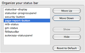 Illustration for article titled Download of the Day: Organize Status Bar (Firefox)