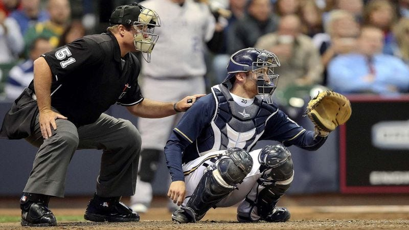 Illustration for article titled Umpire Asks Catcher To Move Up A Little