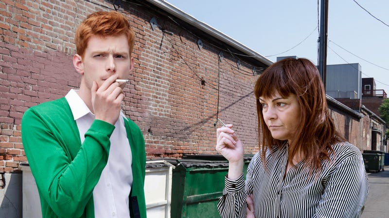 Illustration for article titled Chilling: This New Anti-Smoking Campaign Demonstrates The Horrific Effects Of Having To Make Small Talk With A Coworker By The Dumpster