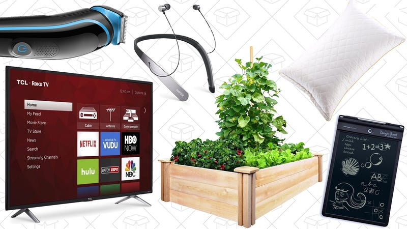 a 360 4k smart tv memory foam pillows and a braun grooming kit lead off best deals from around the web