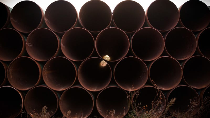 Looks like these pipes won't become the Keystone XL Pipeline just yet.