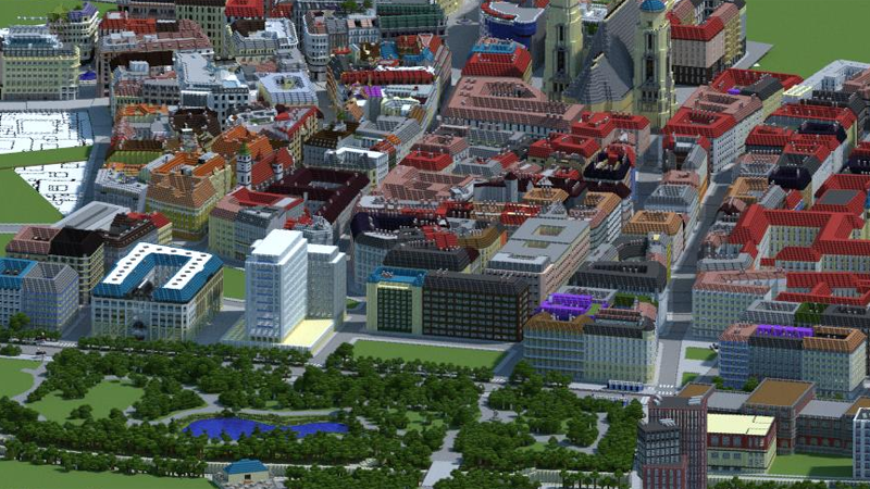 Illustration for article titled Fans Are Making A 1:1 Scale MinecraftVersion of Vienna