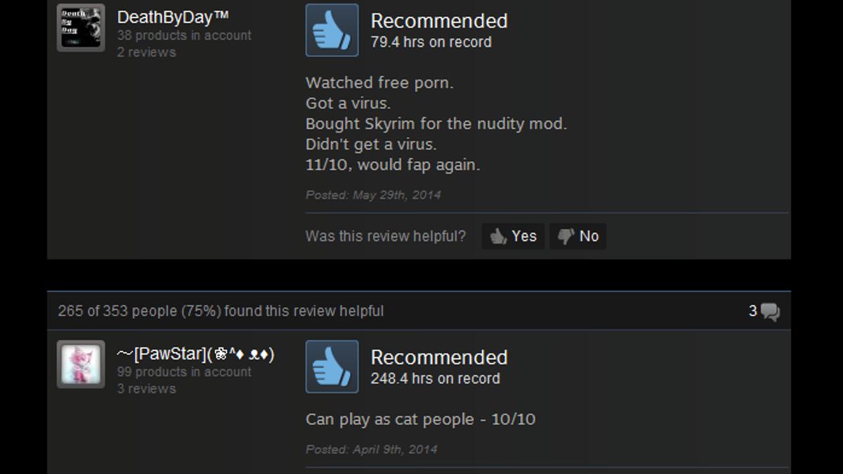 skyrim as told by steam reviews