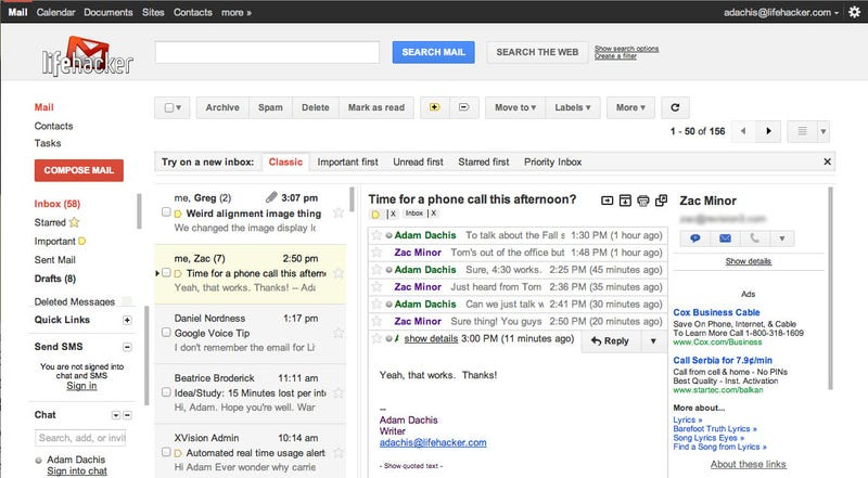 Illustration for article titled Enable Gmail's Great New Preview Pane in Gmail Labs