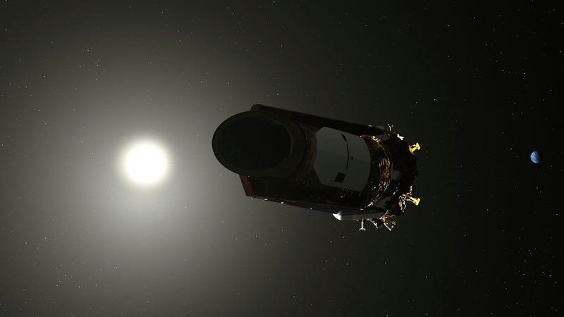 Illustration of the Kepler space telescope.