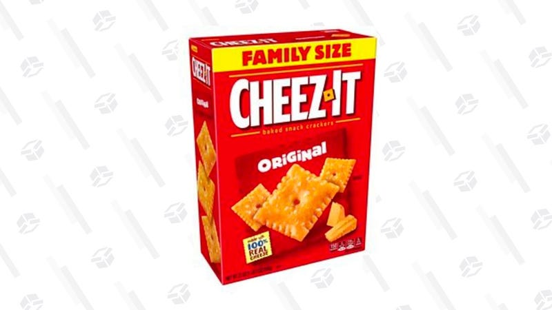 Cheez-It Original Baked Snack Cheese Crackers, Family Size, 21 Ounce Box | $9 | Amazon | With 20% off coupon